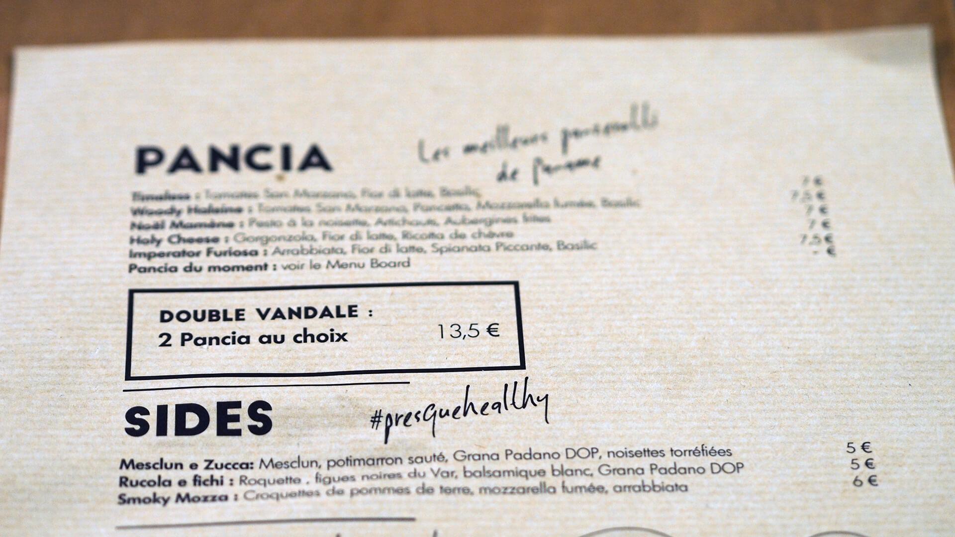 Restaurant Pancia Paris 75010